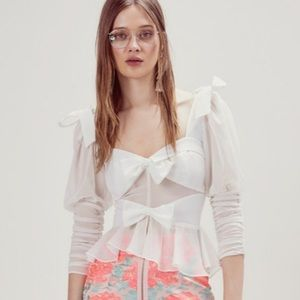 For Love And Lemons Royale Bow Top Small